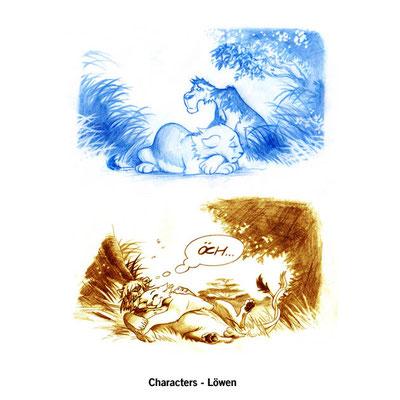 Benjamin von Eckartsberg - Character Design - Löwen - free work