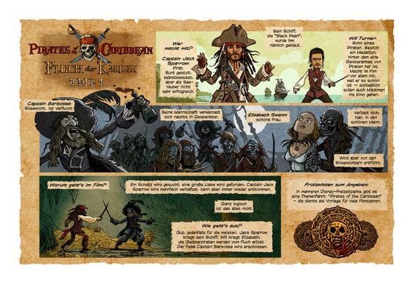 Benjamin von Eckartsberg - Comic Illustration: Piraten der Karibik 1 - Comic Recap - Kunde: Dein Spiegel