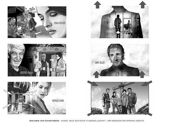 Benjamin von Eckartsberg - Storyboard- Der Bergdoktor - Kunde: NDF - Neue deutsche Filmgesellschaft