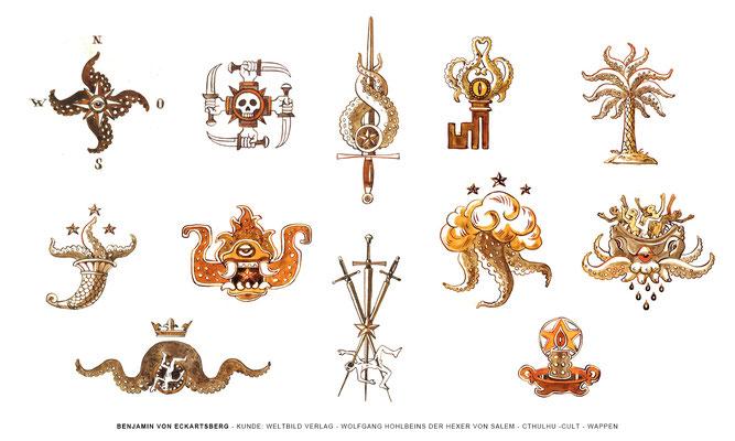 Benjamin von Eckartsberg - Logo / Icon - Cthuhlu Kult Wappen- Kunde: Weltbild Verlag