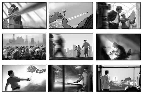 Benjamin von Eckartsberg - Storyboard - Kunde: Voestalpine- Agentur: Brainstorm Club
