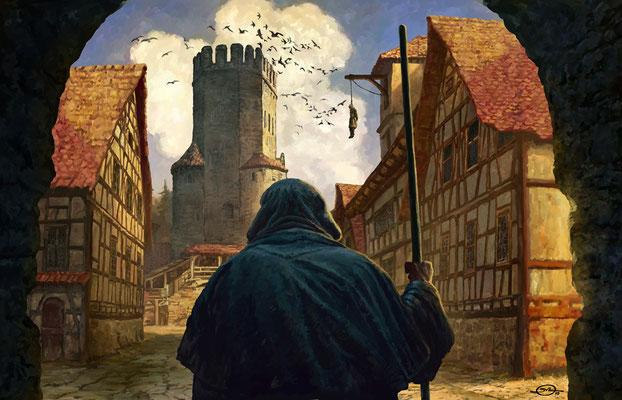 Benjamin von Eckartsberg - Illustration Buchcover: Wolfgang Hohlbein-Der Inquisitor, Weltbild Verlag