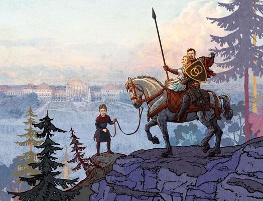 Benjamin von Eckartsberg - Illustration: Hochzeitseinladung - Kunde: privat