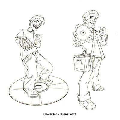Benjamin von Eckartsberg - Character Design - Presenter Character - Kunde: Buena Vista