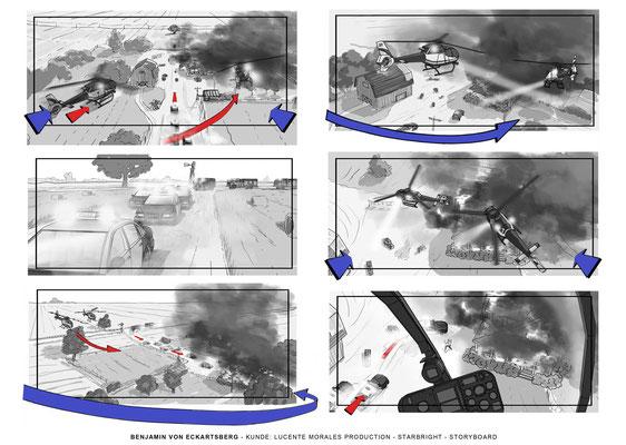 Benjamin von Eckartsberg - Storyboard- Starbright - Kunde: Lucente Morales Production