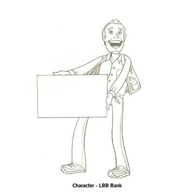Benjamin von Eckartsberg - Character Design Sketch - Presenter Character for web - Kunde: LBB Bank
