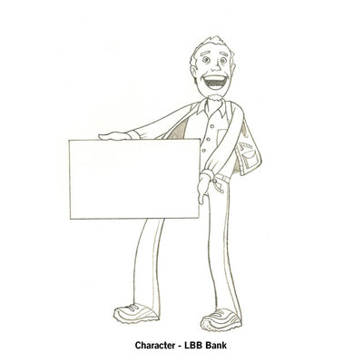 Benjamin von Eckartsberg - Character Design Sketch - Presenter Character for web - Kunde: LBB Bank