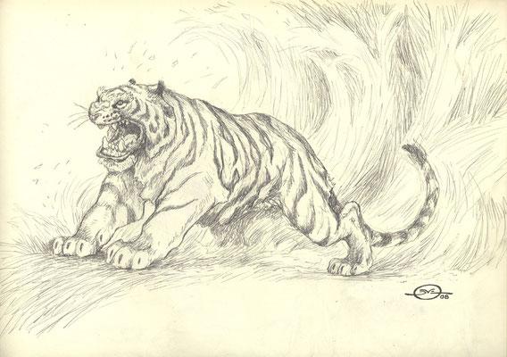 Benjamin von Eckartsberg - Character Design - Maneater/ Tiger - Freie Arbeit