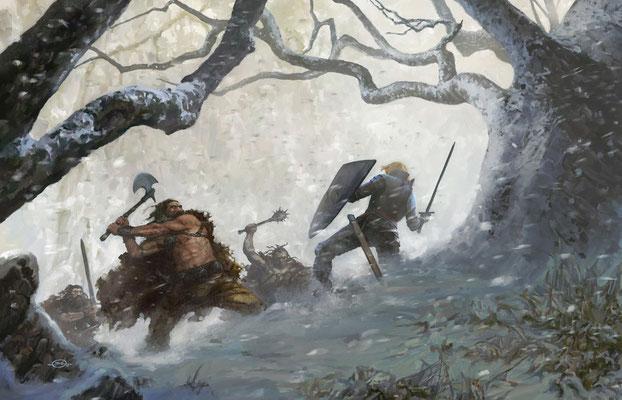 Benjamin von Eckartsberg - Illustration Buchcover: Wolfgang Hohlbein-Die Legende von Camelot 3-Runenschild, Weltbild Verlag