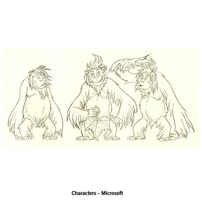 Benjamin von Eckartsberg - Character Design - 3 Affen - Kunde: Microsoft