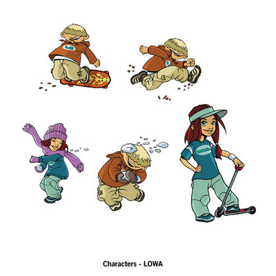 Benjamin von Eckartsberg - Character Design - LO & WA - Kunde: LOWA Kinderschuhe