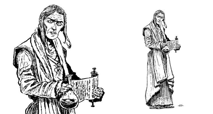 Benjamin von Eckartsberg - Character Design für CD-Booklet - Der Fluch des Drachen - Kunde: Universal