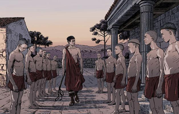 Benjamin von Eckartsberg - Illustration Editorial - Ein Tag in Sparta - Kunde: Geolino Zeitreise