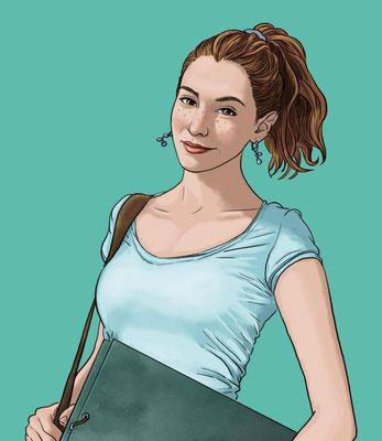 Benjamin von Eckartsberg - Character Design für Website - Her Money - Kunde: Her Money
