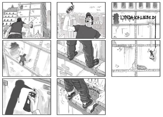Benjamin von Eckartsberg - Storyboard - Kunde: Lycos - Agentur: Living Room Pictures