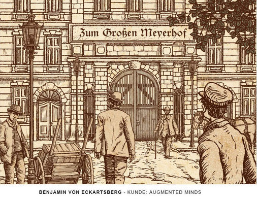 Benjamin von Eckartsberg - Illustration History App for Augmented Reality Animation: Kunde: Augmented Minds