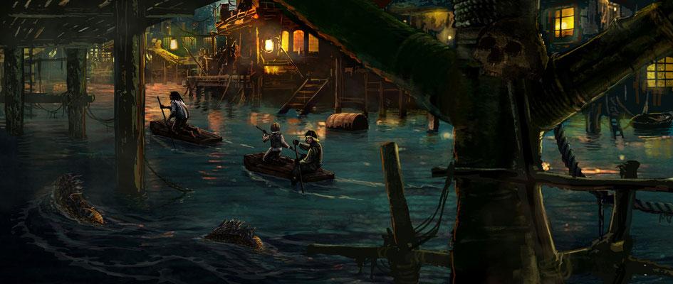 Benjamin von Eckartsberg - Concept Art - Honkytonk Pirates - Kunde: UFA Cinema