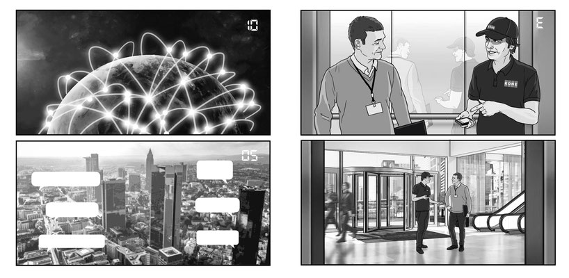 Benjamin von Eckartsberg - Storyboard - Kunde: Kone - Agentur: aim.com