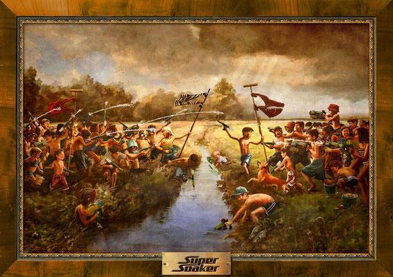 Benjamin von Eckartsberg - Illustration Großflächenplakat: Supersoaker Creek Battle - Kunde: Hasbro - Agentur: J. Walter Thompson