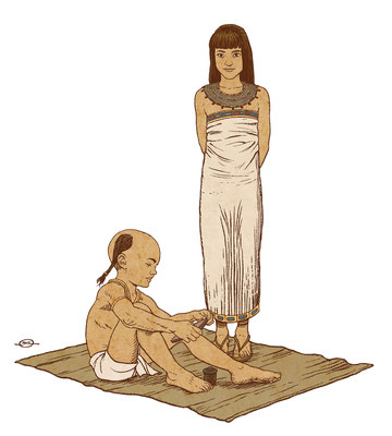Benjamin von Eckartsberg - Illustration  für Austellung über Schule - Ägypten - Kunde: Bayerisches Nationalmuseum