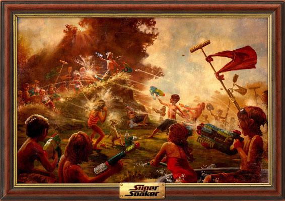 Benjamin von Eckartsberg - Illustration Großflächenplakat: Supersoaker Hill Battle - Kunde: Hasbro - Agentur: J. Walter Thompson