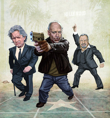 Benjamin von Eckartsberg - Illustration Editorial: Die B-Movie Rentner - Kunde: KulturSpiegel