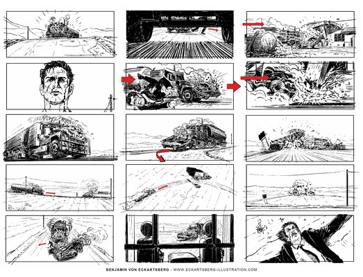 Benjamin von Eckartsberg - Storyboard Men of violence- Kunde: Starbright Incorporated