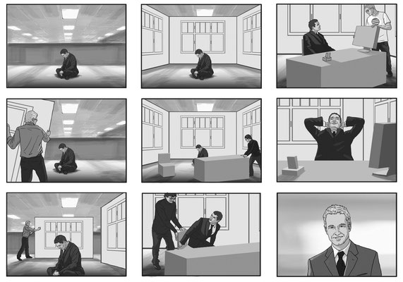 Benjamin von Eckartsberg - Storyboard - Kunde: Deutsche Bank- Agentur: Ziggy Mediahouse