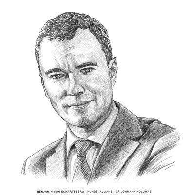 Benjamin von Eckartsberg - Illustration Portrait: Kolumne Dr. Lohmann - Kunde: Allianz