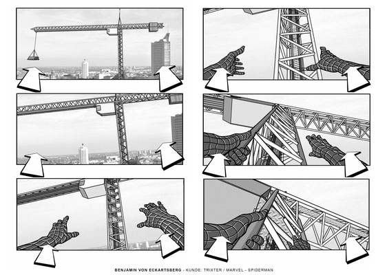 Benjamin von Eckartsberg - Storyboard Spiderman Pitch- Kunde: Marvel - Agentur: Trixter