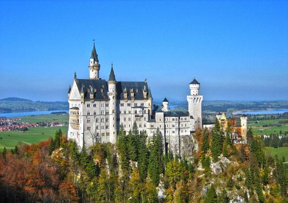 Schloß Neuschwanstein, das vielleicht bekannteste Schloß der Welt