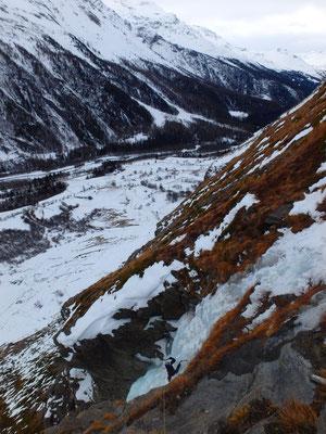 Cascade de la Coëlle, sortie de la ligne de gauche, Bessans