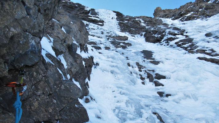 Les options de L2 - Cascade de glace - Goulotte - Guide Maurienne