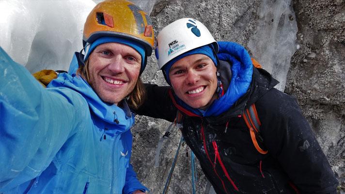 L'équipe du jour, Glacenost, cascade de glace Haute-Maurienne