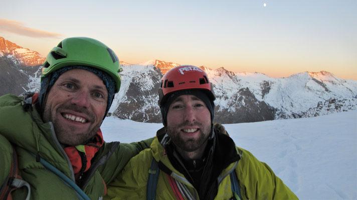 L'équipe du jour  -  Cascade guide Maurienne