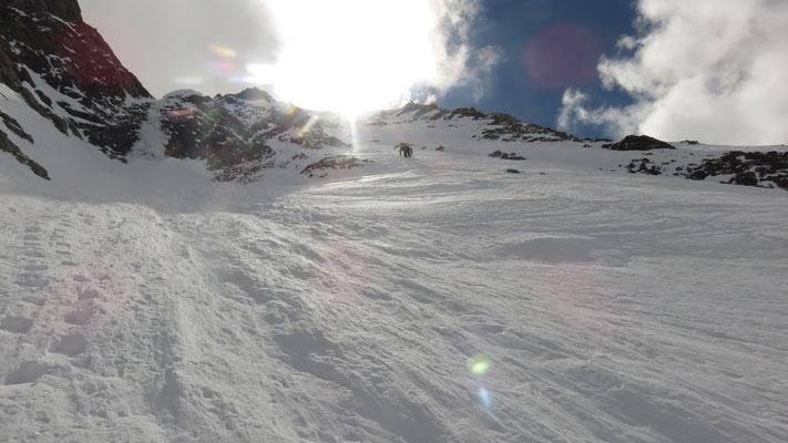 La rampe de neige permettant de contourner la goulotte