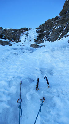 Le dernier ressaut - Cascade de glace - Goulotte - Guide Maurienne