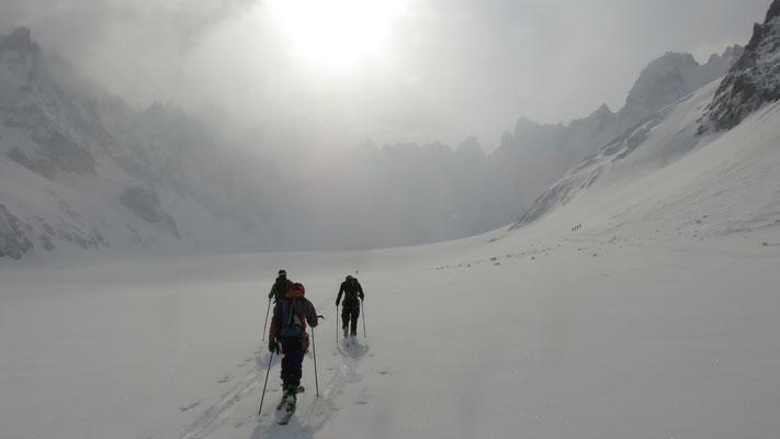 Ambiance sur le glacier d'Argentière