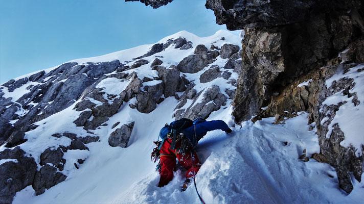 Départ de la grotte. Grand Argentier / Choucas 73 / Topo