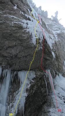 Départ de la voie Malvolti en 2021  -  topo