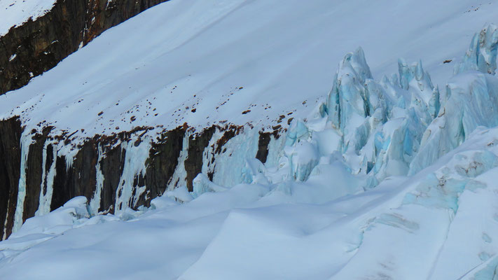 Les séracs du glacier d'Argentière, Col des Cristaux