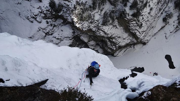 Yann à la sortie de Glacenost - Glacenost / Cascade de Glace / Haute-Maurienne