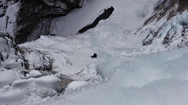 Yann au départ de L2 - Glacenost / Cascade de Glace / Haute-Maurienne