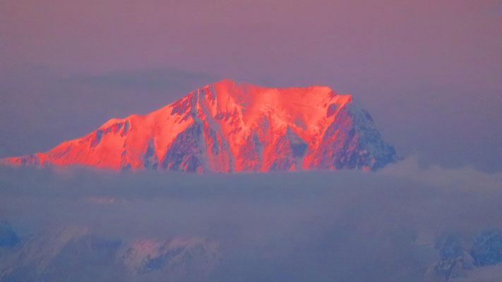 Coucher de soleil sur le Mont-Blanc