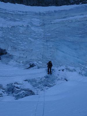 Un dernier petit rappel et nous voici sur le glacier Blanc.
