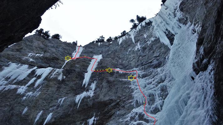Matin Difficile vu du bas - Glacenost / Matin Difficile / Cascade de Glace / Haute-Maurienne