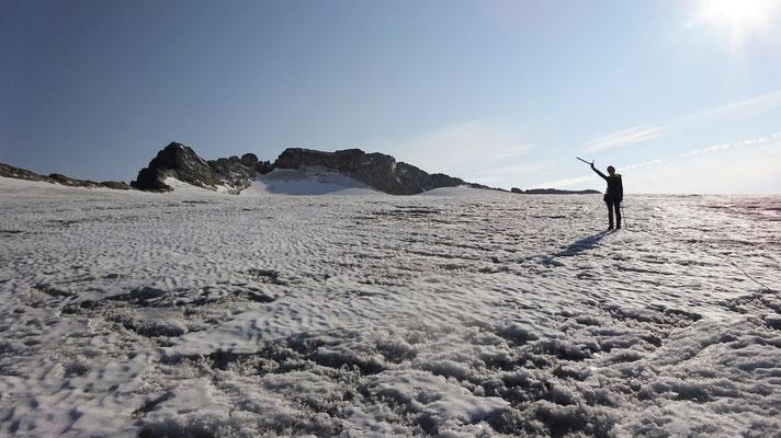 Le glacier de la Roche Ferran avec le Mont Pelve