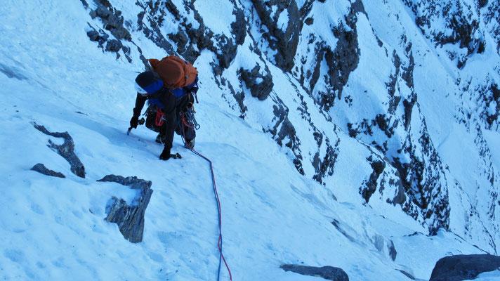 Neige couic, le top! - Cascade de glace - Goulotte - Guide Maurienne