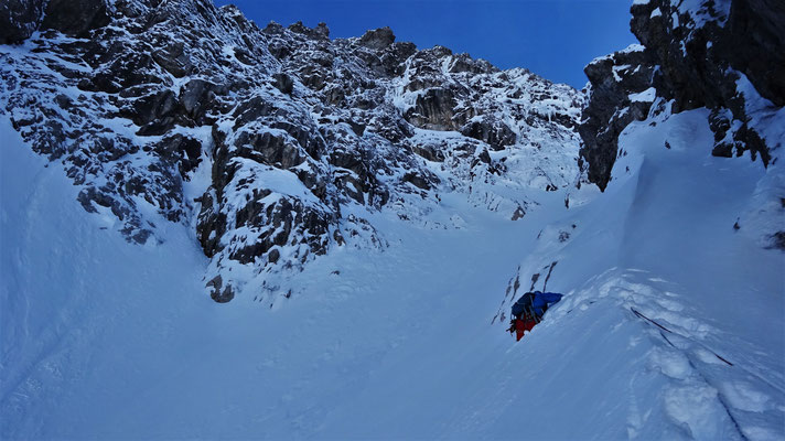 Le grand couloir W.  Grand Argentier / Choucas 73 / Topo