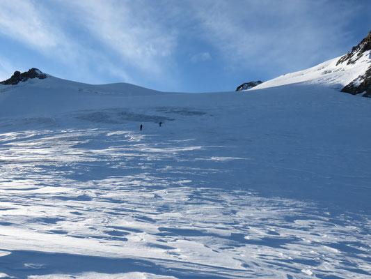 Sortie sur le glacier des Violettes.